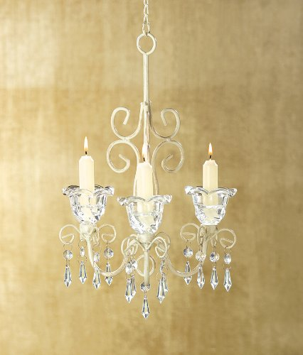 Review Gifts & Decor Shabby Elegance Scrollwork Candleholder Chic Decor
