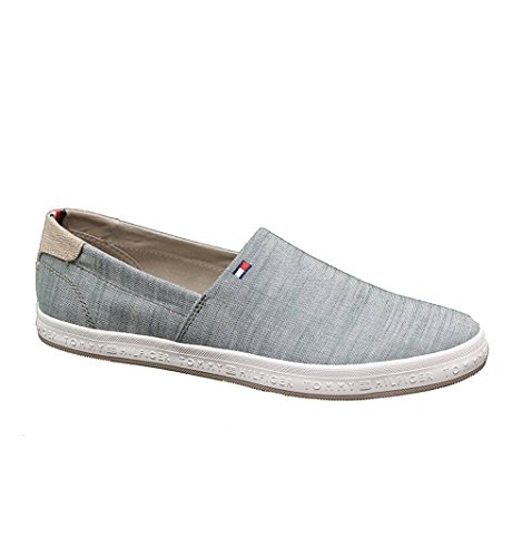 Zapatillas Denim on Slip Hilfiger Tommy Verde Zapatillas 478H5Xwxq