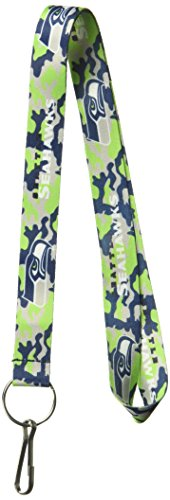 NFL Seattle Seahawks Team Color Camouflage (Seattle Seahawks Nfl Lanyard)