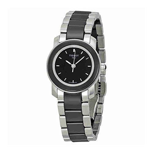 Tissot Women's T0642102205100 Cera Black Dial Ceramic Watch