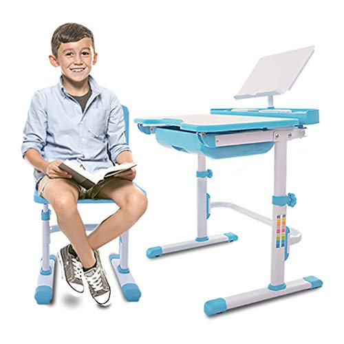 41UGt082SXL - VIVO Height Adjustable Children's Desk and Chair Set, Grey