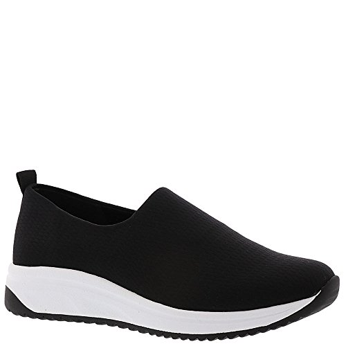 Anne Klein Women's Brittany Sneaker Black/Black White Fabric