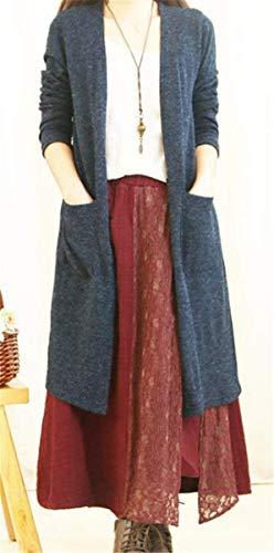 Assez Chic V en en Tricot Unicolore Femme Automne Tricot Manteau Printemps Veste Cardigan x0v78v5Uqw