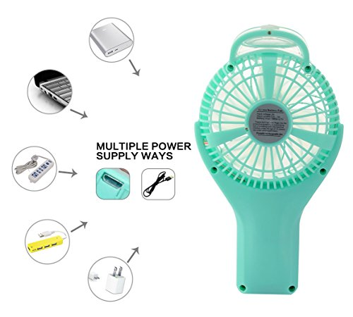 Topwell Handheld Mini USB Misting Fan Water Spray Fan Rechargeable Portable  Personal Cooling Mist Humidifier Fan