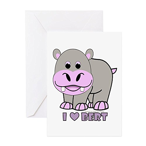 CafePress - Bert The Hippo - Greeting Card, Note Card, Birthday Card, Blank Inside Matte (Hippo Note Card)