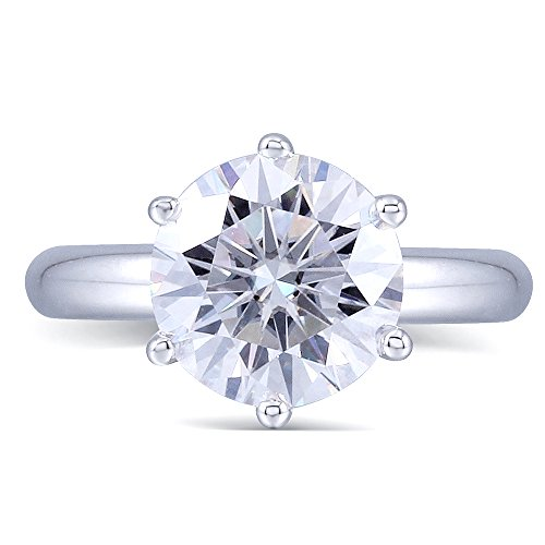 2CTW Color (H) Moissanite Wedding Ring in 925 Sterling Silver by TransGems (7) by TransGems