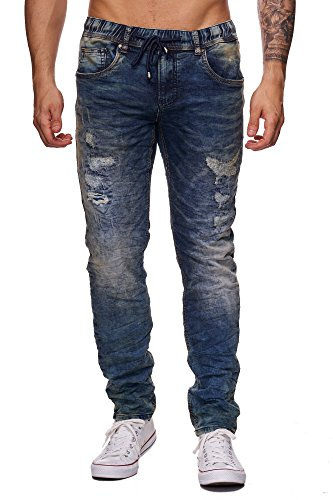 Fashionflash - Vaquero - Jeans - para hombre Azul
