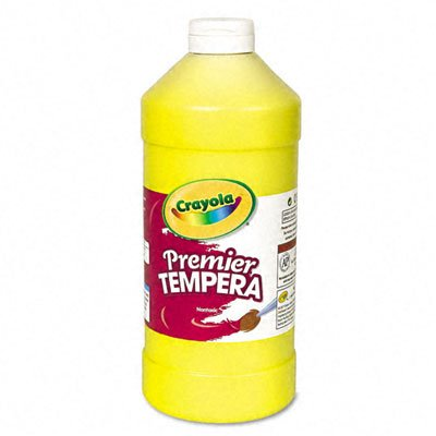 Crayola. 541232034 Premier Tempera Paint, Yellow, 32 oz