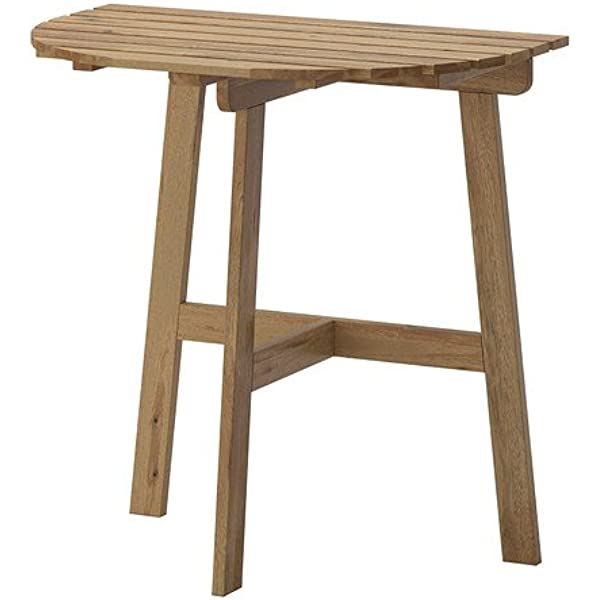 IKEA ASKHOLMEN - mesa Balcón, teñida de color gris-marrón ...