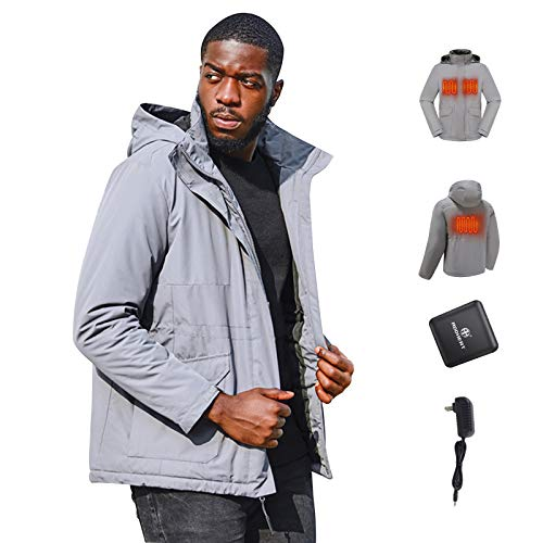 ADDHEAT Men's Heated Jacket - [2020 Upgrade] Winter Heating cloting with Battery Pack