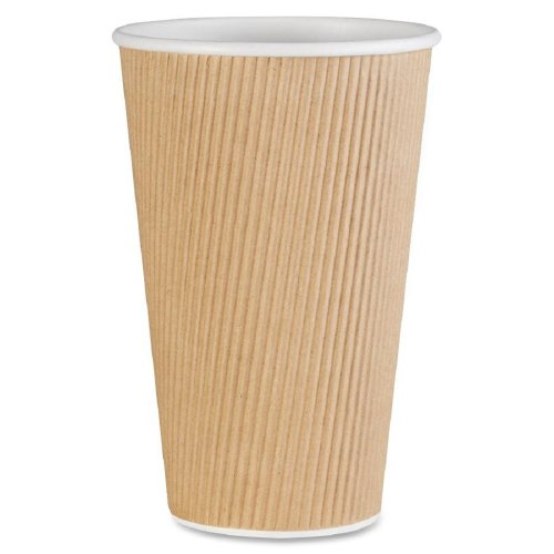 Genuine Joe GJO11257CT Insulated Ripple Hot Cup, 16-Ounce Capacity (Carton of 500)