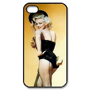 C-EUR Customized Print Marilyn Monroe Pattern Back Case for iPhone 4/4S