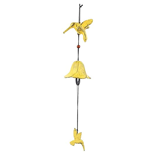 Traditional Wind Chime Japanese Furin Bird Shaped Cast Iron Bronze Hanging Windbell for Home Patio Balcony Office Decoration Gift 1#
