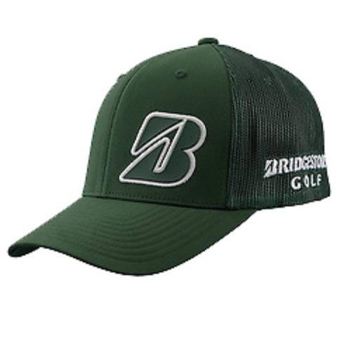 (Bridgestone New Golf Border B Collection Green/White Snapback Adjustable Hat/Cap)