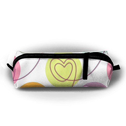Valentine Pencil Love (Valentine's Love Pencil Case Pencil Pouch Cosmetic Bag For Purse Scratch Resistant For Girl)