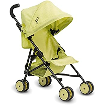 Triokid My First Baby Doll Stroller Miniline Lemon Green Travel Stroller Portable Stroller Drawable Fabric with Removable Weather Resistant Canopy