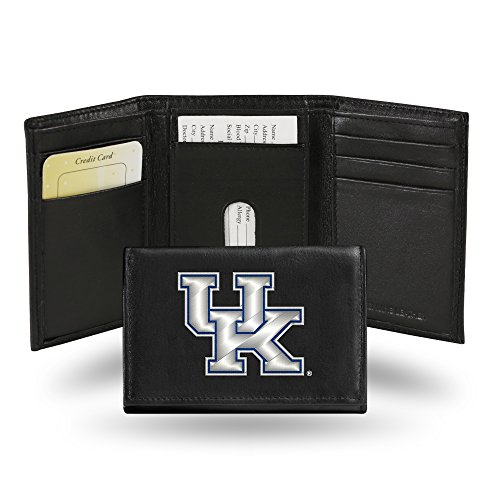 Wildcats Embroidered Tri Fold - Rico Industries NCAA Kentucky Wildcats Embroidered Leather Trifold Wallet