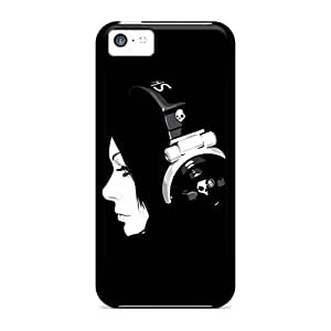 New Iphone 5c Case Cover Casing(girl Listening To Music On Headphones)
