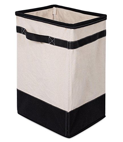 BIRDROCK HOME Canvas Hamper - Single Laundry Basket with Handles - Foldable Hamper - Easily Transport Laundry - CANVAS HAMPER: designed perfectly with a canvas appeal and black accents that will provide an elegant touch to any room DURABLE & LIGHTWEIGHT: The laundry basket is crafted from a cotton/polyester blend canvas and a metal frame allowing for a lightweight yet durable solution for frequent use in your bedroom, laundry room or bathroom CLOTHES ORGANIZER: helps keeps dirty laundry neat and tidy without being an eye sore like most hampers - laundry-room, hampers-baskets, entryway-laundry-room - 41UGxEOWfkL -