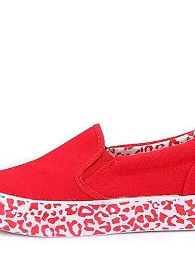 5 exterior Zq Casual Comfort Mujer 5 plataforma creepers Red Red Zapatos Uk3 De Cn40 Oficina negro Eu36 5 5 us5 Deporte mocasines tela Cn35 Uk6 us8 Eu39 Trabajo Rojo Laboral Y 0qPwrF0