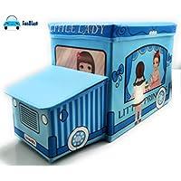 FunBlast Muti-Functional Foldable Storage Box Basket Bin Organiser Stool for Kids, Storage Boxes for Toys for Kids (Little Princess)