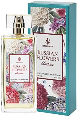 Russian Flowers (BLOSSOM) Eau de Toilette for Women 3.4 fl.oz. (100 ml) – Floral Fragrance for Her