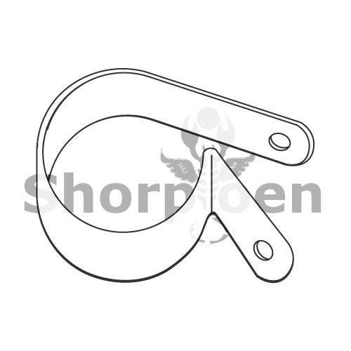 SHORPIOEN Standard Cable Clamps Nylon 3/8 x .203 x .595 BC-375203CCN06 (Box of 2500)