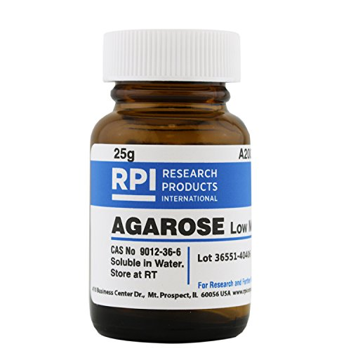 Agarose, Low Melt Temperature, 25 Grams