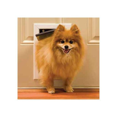 Electromagnetic Door Cat - PetSafe Freedom Aluminum Pet Door for Dogs and Cats, Small, White, Tinted Vinyl Flap