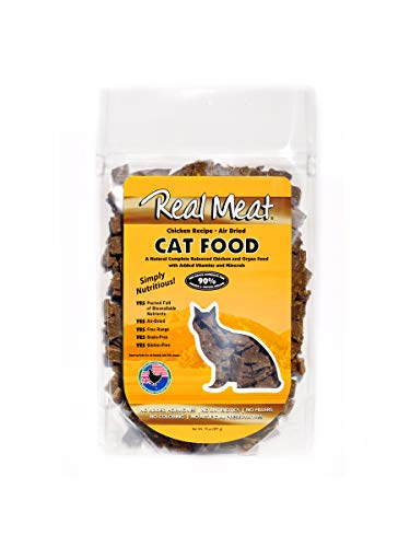 (Real Meat Air Dried Cat Food Chicken Pet Treat, 14 Oz )