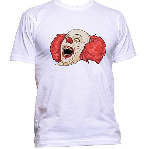 Evil Clown Halloween T Shirt Small White