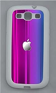 Samsung S3 Case Purple Background Apple Pattern TPU Custom Samsung S3 Case Cover White