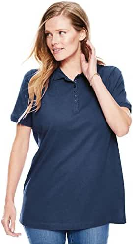 Women's Plus Size Top, Perfect Polo Short-Sleeve T-Shirt