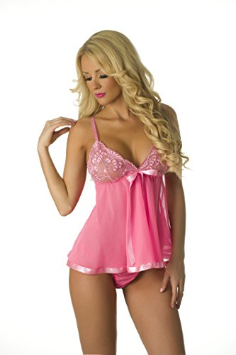 Velvet Kitten Beautiful Babydoll 3215 One Size Pink (Beautiful Lingerie)