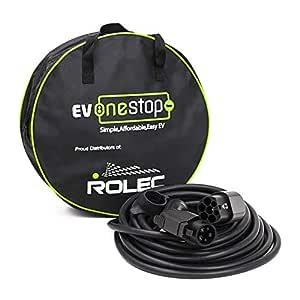 Cable de carga para coche eléctrico, 5 metros de largo, tipo 1 tipo 2, 32 A, con estuche