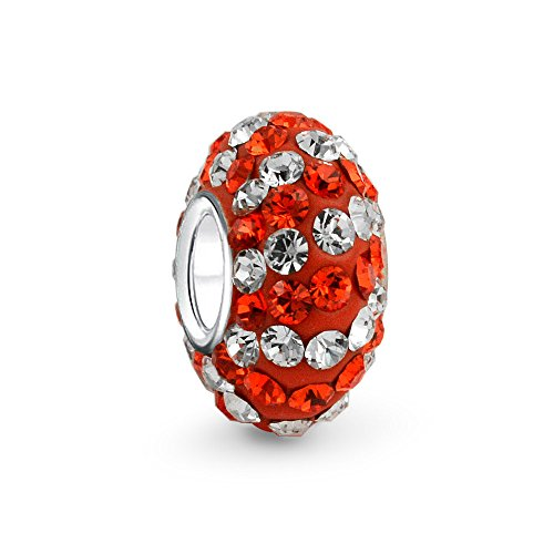 Bling-Jewelry-925-Sterling-Silver-2-Color-Crystal-Bead-Fits-Pandora