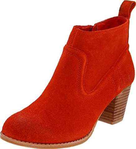DV by Dolce Vita Women's Jamison Bootie, Orange Red Suede, 9.5 M US (Dv Jamison)