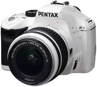Pentax K-x 12.4 MP Digital SLR with 2.7-inch LCD and 18-55mm f/3.5-5.6 AL Lens (White)
