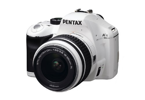 Pentax K2000 Kit (Pentax K-x 12.4 MP Digital SLR with 2.7-inch LCD and 18-55mm f/3.5-5.6 AL Lens (White))