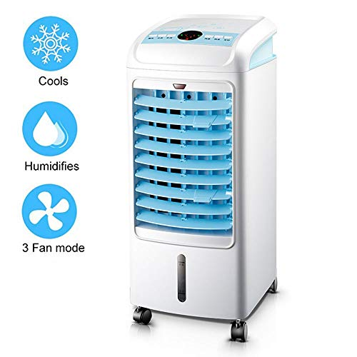 (Portable Air-Conditioning Fan Air Conditioner with Remote Control Vertical Air Cooler Landed Humidifier 3-Gear Speed 4L Water Tank 70° Wide Angle Air Supply Cooling Fan for Office Home Dorm)