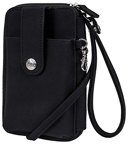 Mundi Nubie Solid Kennedy Crossbody Wristlet One Size Black