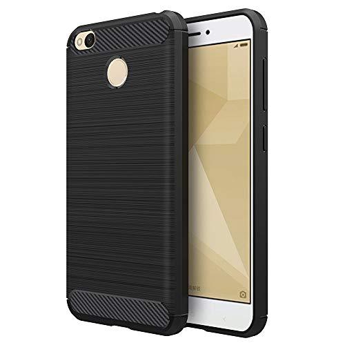 Simpeak Funda para Xiaomi Redmi 4X, Negro Silicona Fundas Redmi 4X Carcasa Xiaomi Redmi 4X Fibra De Carbono Funda Case(5,0...