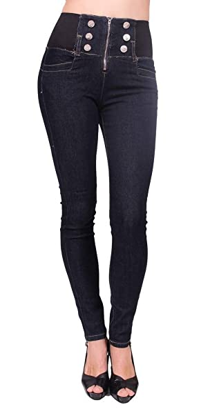 Amazon.com: CÂ € est toi Jeans EE. UU. Mujeres High Rise ...