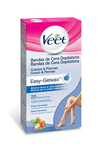 Veet Easy Gelwax Body Bands Depilatory Wax Skin Sensitive X20
