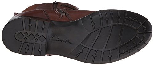 Clarks Plaza City Ingenieur-boot In Pelle Marrone