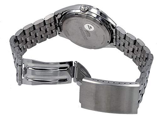 Orient RA-AB0E10S 3 stjärnor rostfritt stål silver urtavla dag datum automatisk klocka
