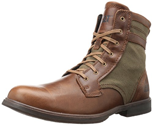 Caterpillar Men's Abe Canvas II Chukka Boot, Brown Sugar/Olive, 9.5 D - Brown Caterpillar