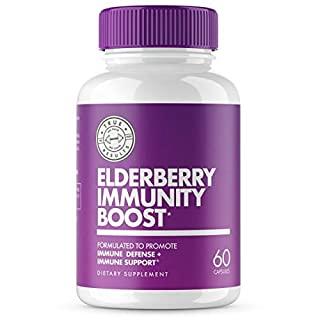 Immune System Support Adults Kids Toddlers with Elderberry, Vitamin C, Zinc & Echinacea - Immunity Boost Supplements Healthy Lung & Stress Response Booster - Supports Respiratory System - 60 Capsules