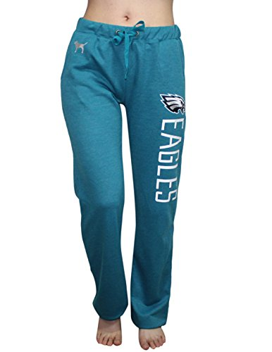 Pink Victoria's Secret NFL Philadelphia Eagles Womens Cotton Pajama Pants L Cyan