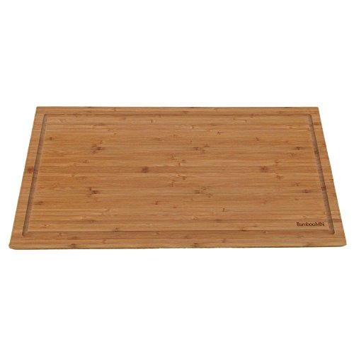 (BambooMN Brand - Heavy Duty Premium Bamboo Cutting Board - 24